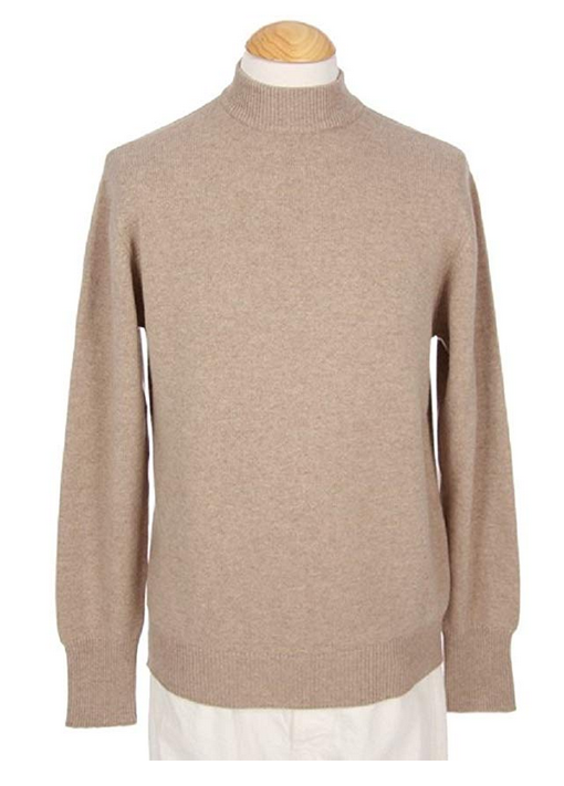 Shephe 4 Ply Men's Mock Turtleneck Cashmere Sweater