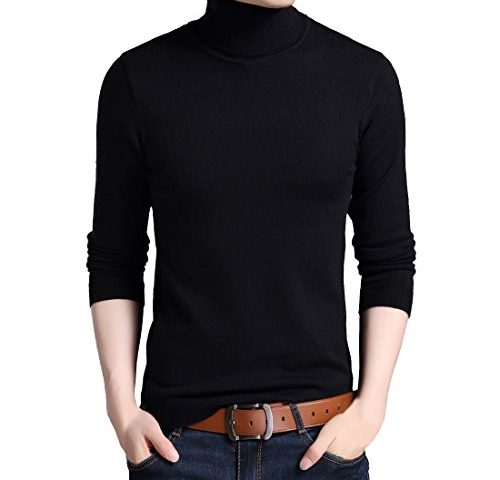 7e4f0955121 Mens Cashmere Wool Knitted Sweater Long Sleeve Turtleneck Pullover Jumpers  Tops